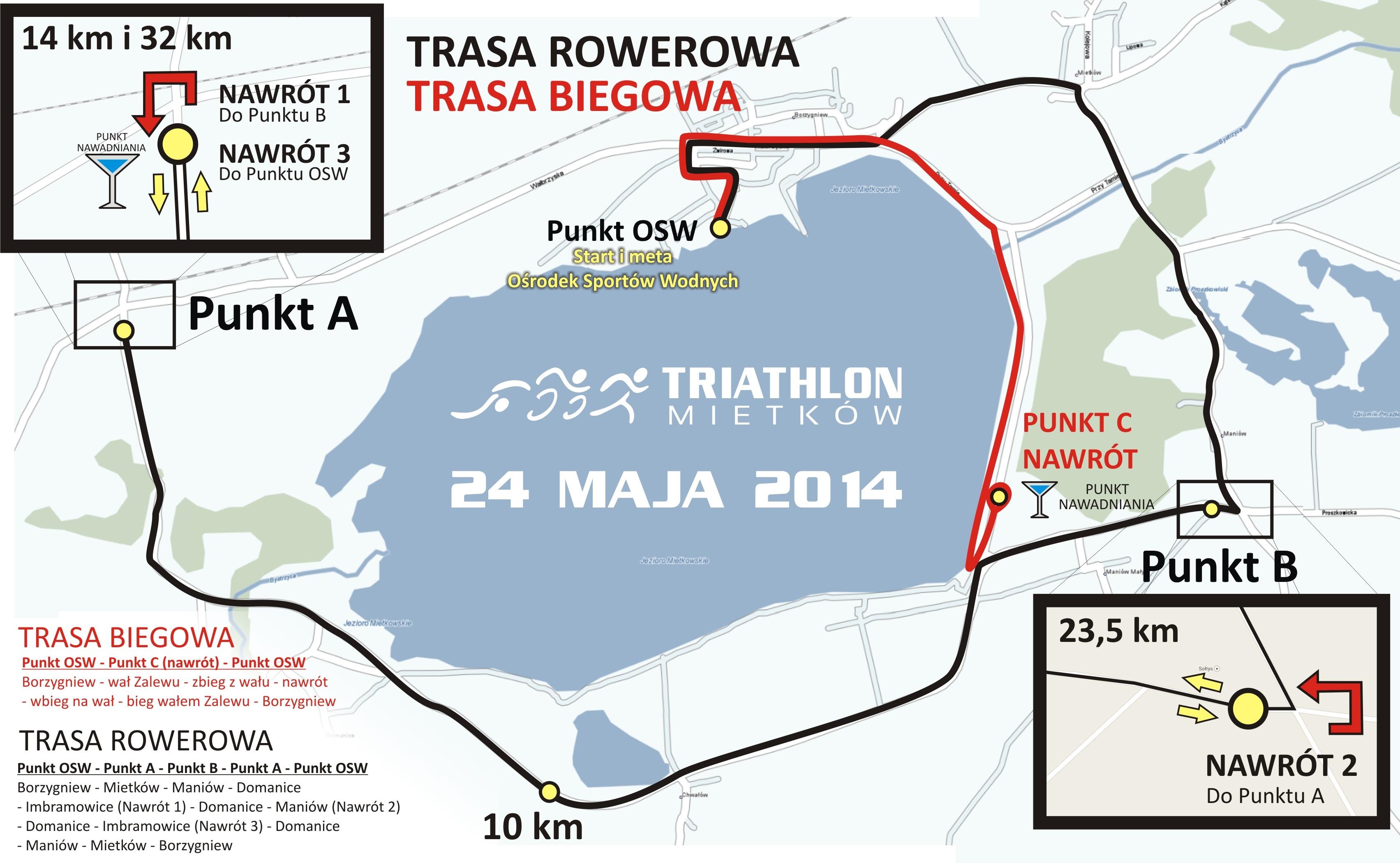 Mapa Triathlon Mietków